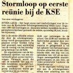 1989 Dagblad De Stem over de komende reünie