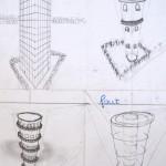 Hoge toren, schetsen
