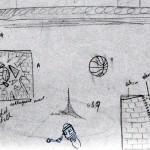 Schetsen en ideetjes muurschildering