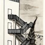 Verkennende schets trappenhuis