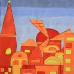Kleurenstudie: stadsgezicht