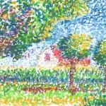 Gepointilleerde tuin