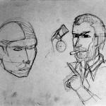 1985-00-titel(=opdracht-geen idee)-schets-potlood-32b * 25h-door Miklos de Rijk