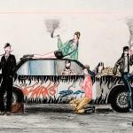 -kleurpotlood, oostindische inkt-45b * 25h-door Miklos de Rijk