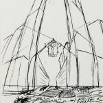 1985-12-Ongeluk(=opdracht-weet niet zeker)--schets, fotokopie met paraboolformules-potlood-A4-door Miklos de Rijk