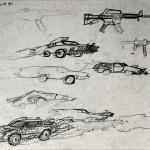 1985-12-Ongeluk(=opdracht-weet niet zeker)-schets-potlood-33b * 26h-door Miklos de Rijk