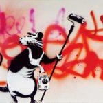 Banksy: Ratje met roller