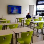 De smart boards worden ingeregeld