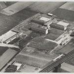 Luchtfoto van het kloostergebouw,begin 50-er jaren, nog in de middle of nowhere
