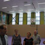 Eerste halte: de verdiept gelegen gymzaal
