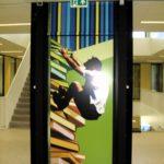 Wandversiering op de eerste verdieping
