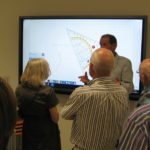 Demonstratie van een van de smart boards