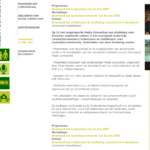 Programma van de afsluiting in Amsterdam