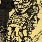 Versie van Jansen met een pop van collega v.d, Boom op schoot