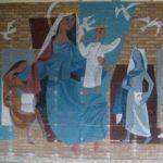 Detail muurschildering 'Regina Nostra'