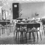 Foto uit 1957: de aula met muurschildering