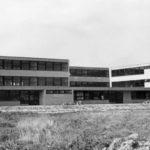 Deel van het complex, gezien vanaf bhet toekomstig sportveld