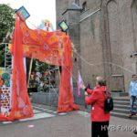 Onthulling van de poort door burgemeester Reinbach