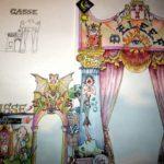 Schets poort Raadhuisplein in kleur