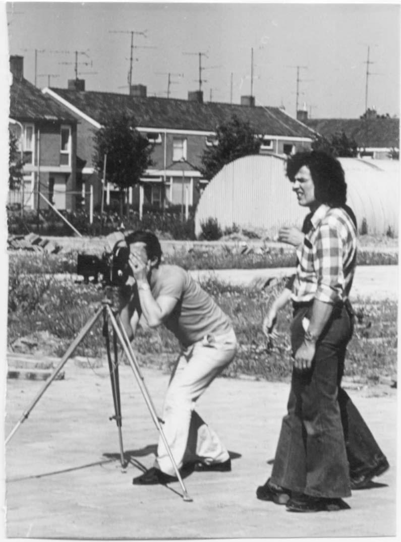 Ad Bierbooms aan het filmen