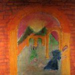 KSE tekenles klas 2E 1979-1980 Eindwerkstuk 'Pompeji'