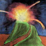 KSE tekenles klas 2E 1979-1980 Voorstudie opdracht 'Pompeji'