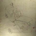KSE tekenles klas VWO 5 1982-1983: Monotype Carcrash achterkant