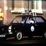 Het begeleidend politie escorte