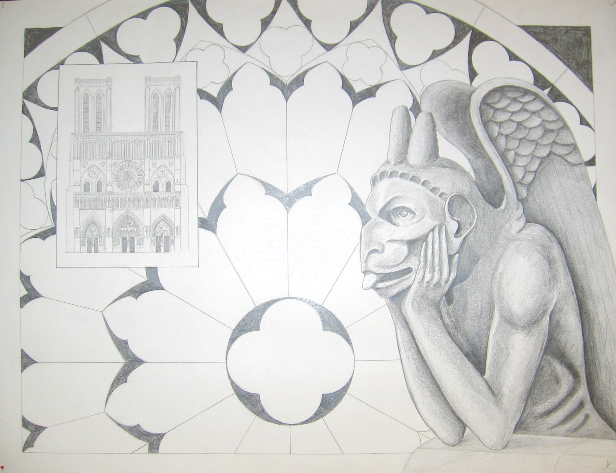 Eindwerkstuk n.a.v. de Notre Dame in Parijs
