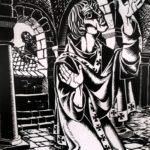 Sint Martinus met Jan als moordenaar