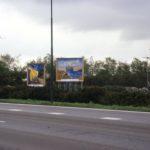 Alle billboards van deze zijde op een rijtje