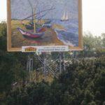 De vissersboten als Billboard