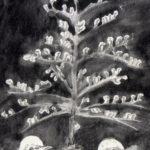 Kerstboom ,detail kerstkaart 1