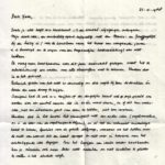 Fragment uit Marjans brief