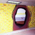 Schildering 8: 'Gat naar de andere tunnel'