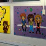 Brugklasatelierwerk in de kantine, schooljaar 2009-2010