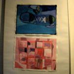 Op de gangen tentoongesteld werk