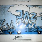 Martins ontwerp voor het jazzaffiche
