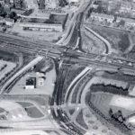 Luchtfoto van de nog onbeschilderde fietstunnels