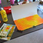 Achtergrond en ondergrond worden beschilderd