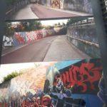 Drie foto's van de tunnel