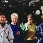 En drie van dezelfde blije collega's tijdens de eerste Eftelingtrip in 1993!