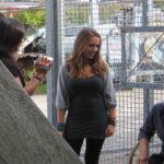 Actrice Maria Ter Steege wordt geinterviewd