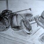Studie stilleven paardrijspullen