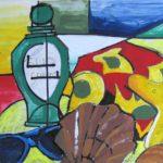 Studie stilleven strandspullen kleur