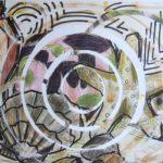Studie stilleven strandspullen ronde vormen