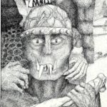 Pentekening Orks detail