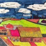 1980 Landschap, inkt en ecoline, Brugklas