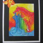 14. Kleurstudie in krijt voor het eindwerkstuk