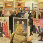 Bewonderende blikken op de expo